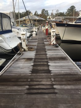 frost on the dock, Osprey Marina