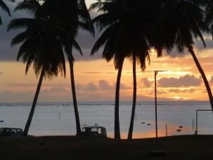 Sunset on Atitutaki