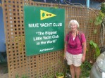 Niue YC – Biggest little Yacht Club, they maintain the moorings for our sailboats & free WiFi