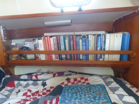 This is the shelf I rebuilt that is located over our berth area.
