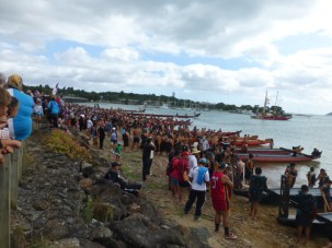 Now on shore the chiefs talk and make speeches