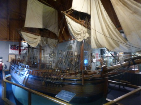 Endeavor is a 1/5th scale copy of Captain Cook's ship when he discovered New Zealand, now in Russell the first capital of NZ.