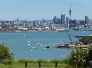SKY TOWER - Auckland from North Shore area near Devonport on a hill used for Military in older days.