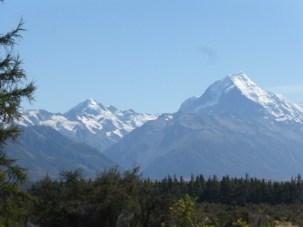 Tas Cook - Mt. Tasman (3497 Meters) on left 2nd highest in NZ, Mt. Cook (3754 m) on right.