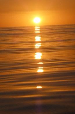 LIGHT WIND sunset on passage to Fiji from New Zealand.