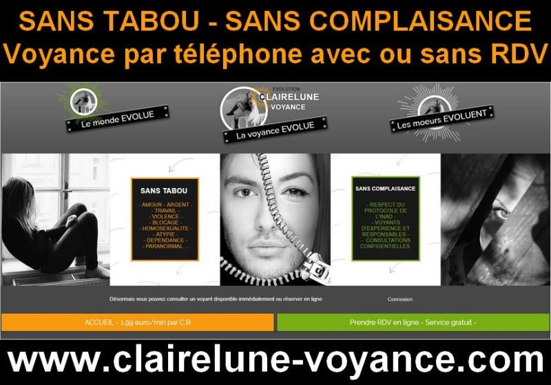 Clairelune Voyance . La voyance sans tabou et sans complaisance