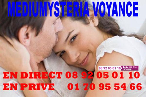 VOYANCE DE L'AMOUR MEDIUMYSTERIA 0892 05 01 10