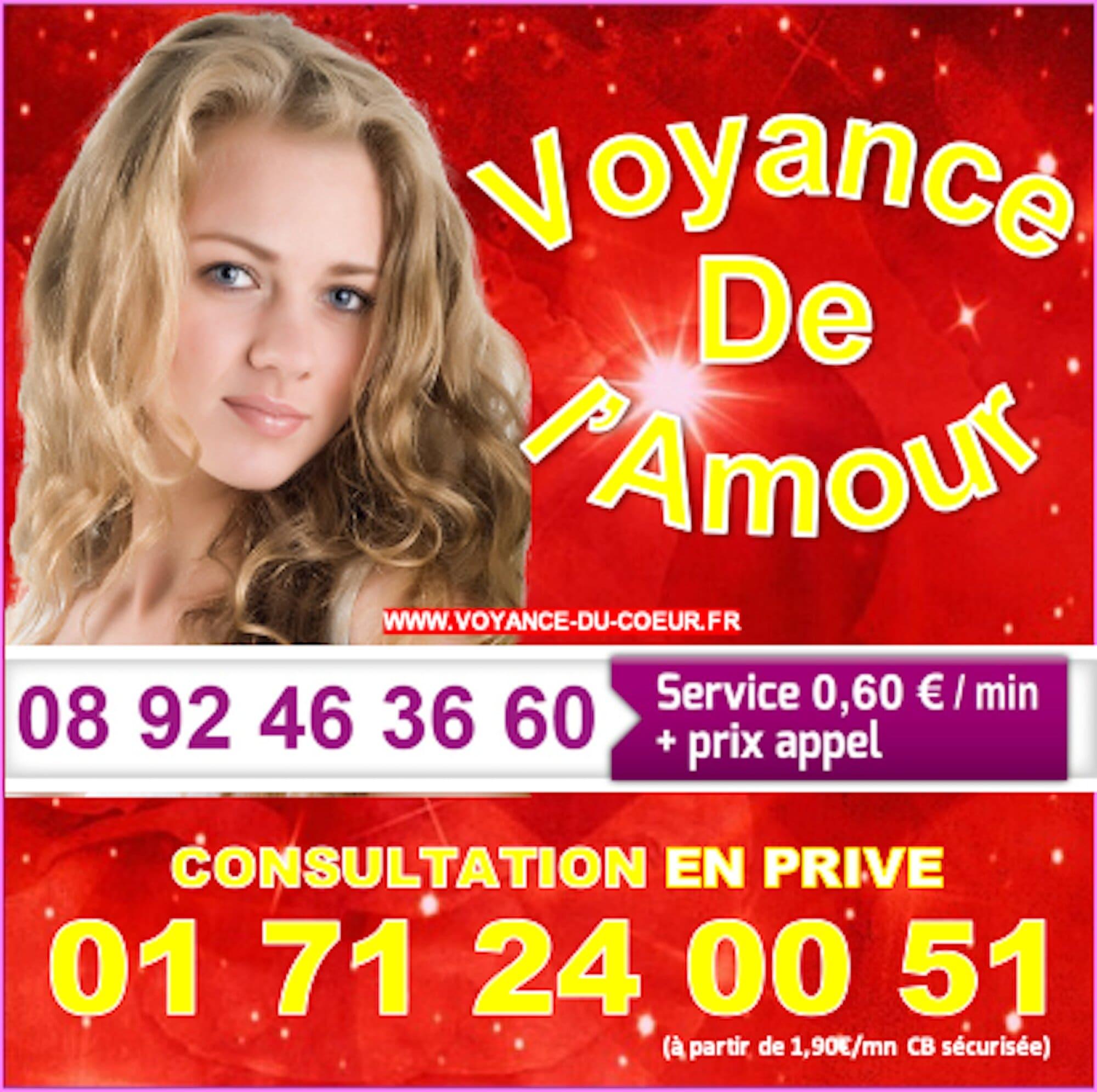 Spécialiste de la voyance de l'Amour au 08.92.46.36.60 (0,60€/mn)