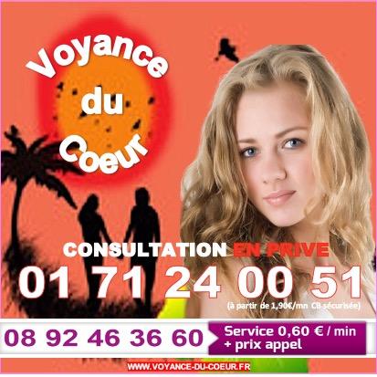 VOYANCE DU COEUR, SPECIALISTE DE LA VOYANCE DE L'AMOUR AU 01.71.24.00.51 (à partir de 1,90€/mn)
