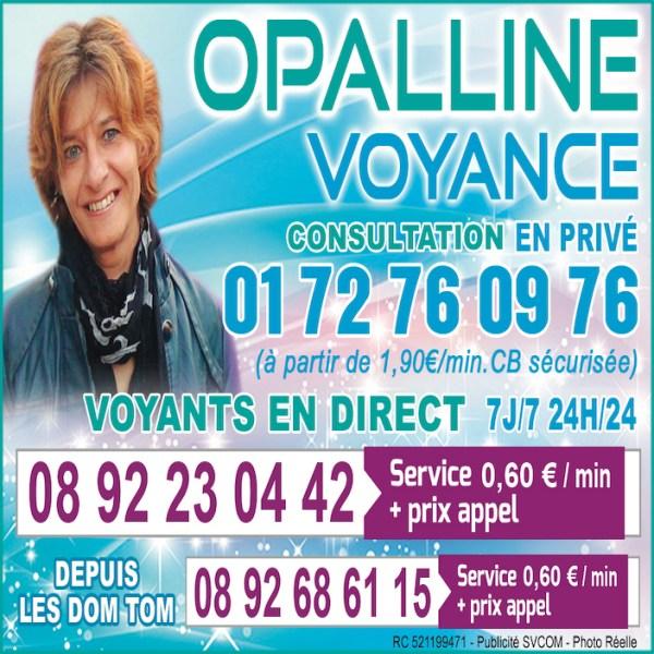 OPALLINE, LA VOYANCE PAR EXCELLENCE AU  0892 23 04 42 (0,60€/mn)