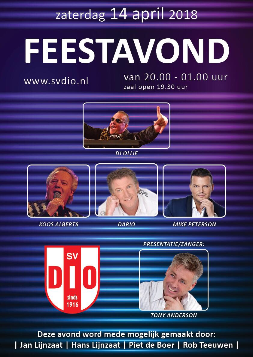 Feestavond 14 april 2018