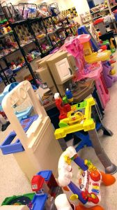 The toy aisle at St. Vincent de Paul's Fond du Lac.