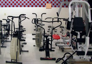 Used, good quality exercise equipment including treadmills and weightlifting machines.