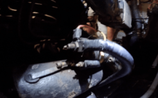Back of starter - Closeup of wiring