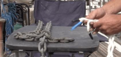 Preparing the line for the splice