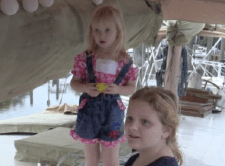 Easter Egg Hunt on the deck of the boat