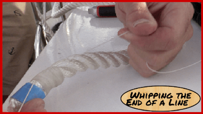 How to whip rope or line