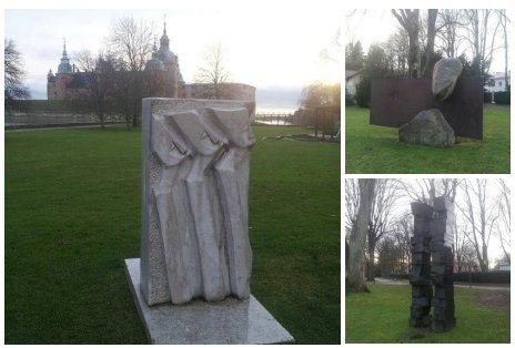 Escultura en el parque de Kalmar - Svea y Pablo