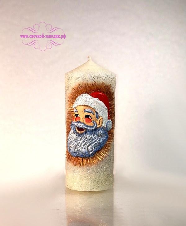 свеча новогодняя дед мороз
