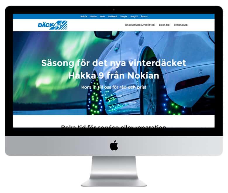 Mediamakarna Grip har glädjen att leverera en ny modern hemsida till Däckabgruppen, dackab.se. Vi är mycket glada att ha fått förtroendet att formge och utveckla sajten, samt också uppdraget att fotografera och skriva copy för hela projektet.