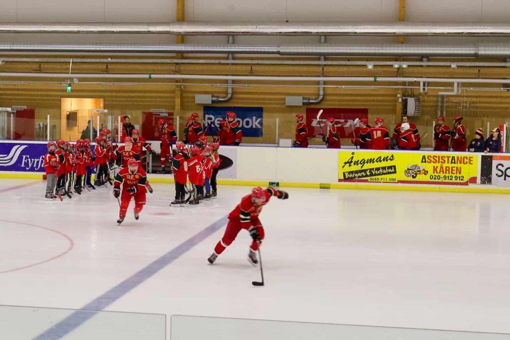 Sveg avslutade säsongen 2018-19 med storseger hemma mot Strömsund. Foto: Morgan Grip