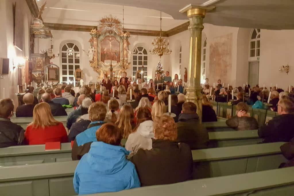 Julspel i Lillhärdals kyrka 2017. Foto: B-G Eliasson