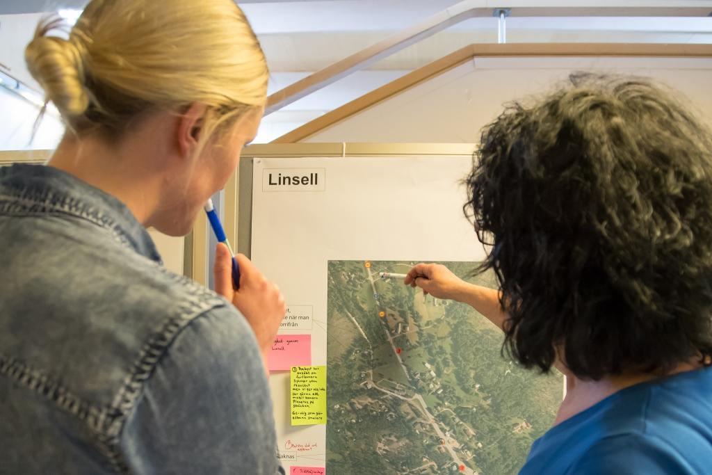 Trafiksituationen i landskapet diskuterades flitigt när Sweco på uppdrag av Trafikverket besökte Härjedalen. Foto: Morgan Grip
