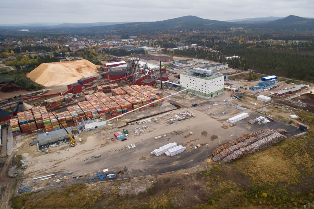 Härjeåns Energi, kraftvärmeverksbygge 2017. Foto: Morgan Grip