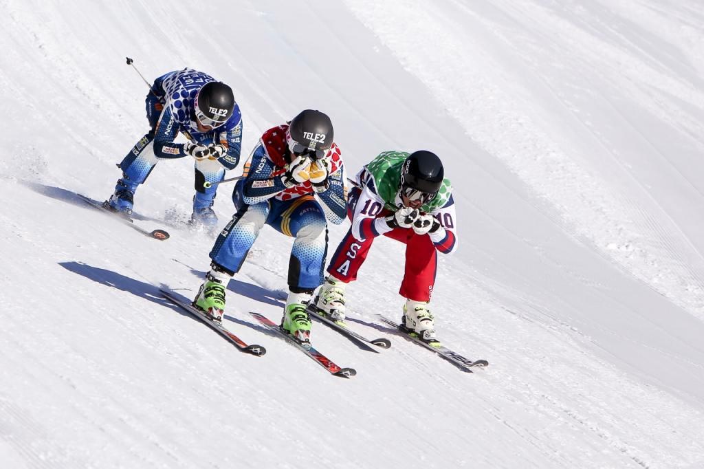 SM i skicross kördes i helgen i Lofsdalen i Härjedalen. Foto: Morgan Grip