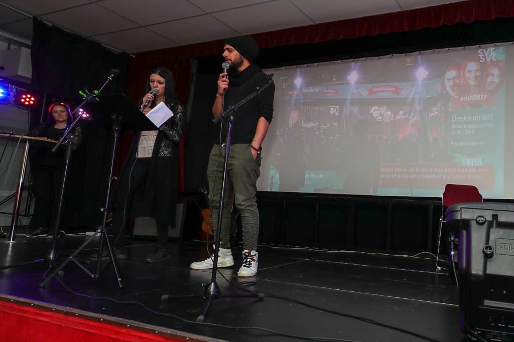 Andra akten avslutades med en version av Hallelujah i en duett med Nina Ekelund och Ali Sabh. Foto: Morgan Grip