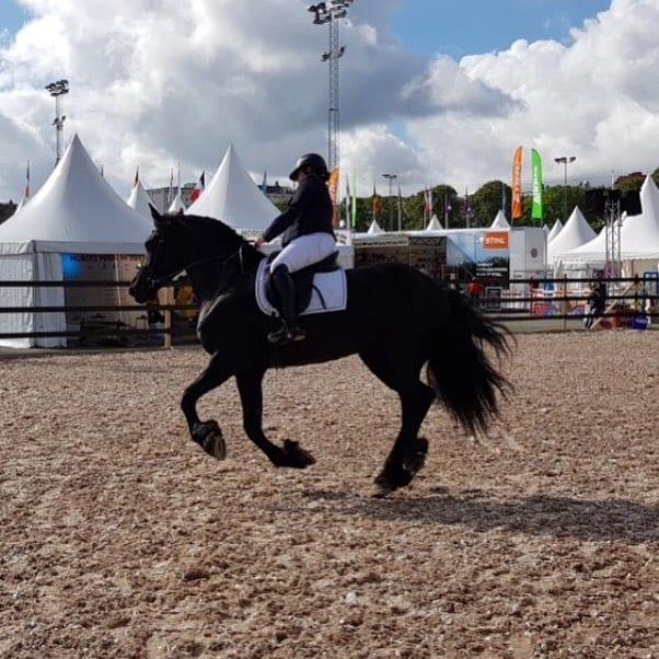 Svenska Frieserfreningens ekipage Viktoria och Isabelle har varit med osshellip