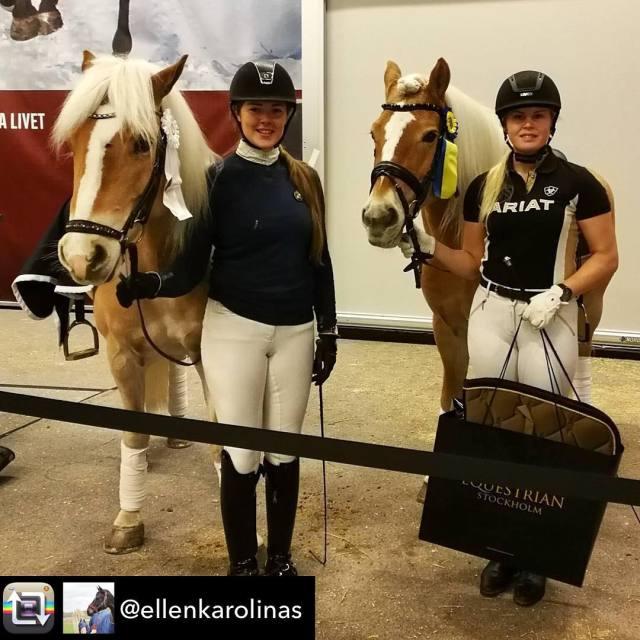 Ellen Rnn och snyggingen Amorone P vinnare i avdelning ponnydressyrhellip