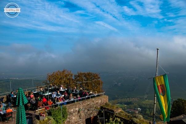 Terrasse der Höhengaststätte