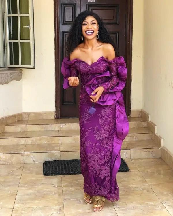 purple lace aso ebi - Aso Ebi Styles