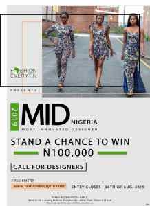 Fashion Everytin to Give N100,000 for MID 2019