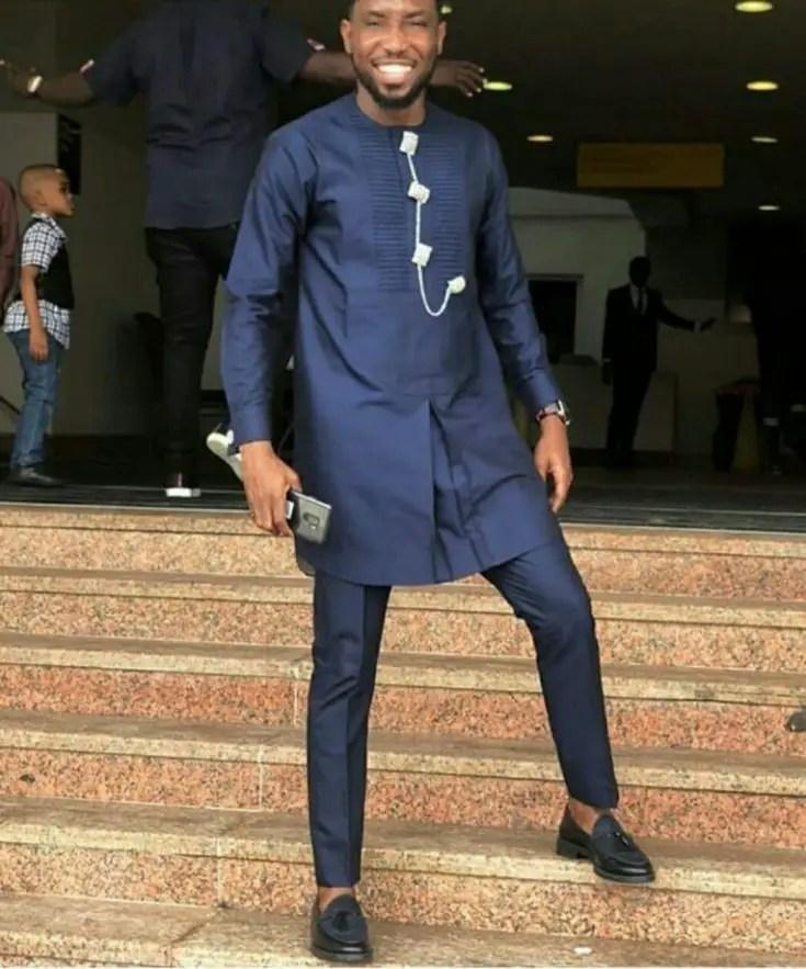 Timi Dakolo in a Top Length senator wear - Latest Senator Wear Styles