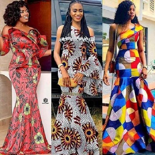 3 ankara long dresses