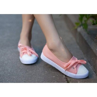 pink and white canvas - women's footwear