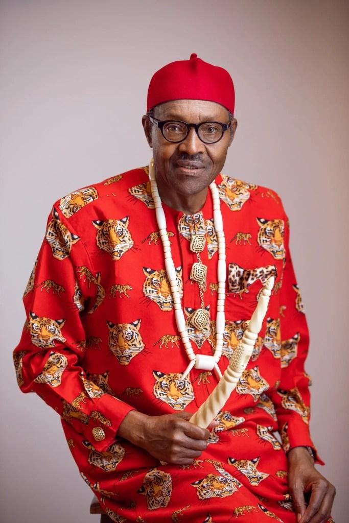 President Buhari in Igbo traditional attire - Isi Agu