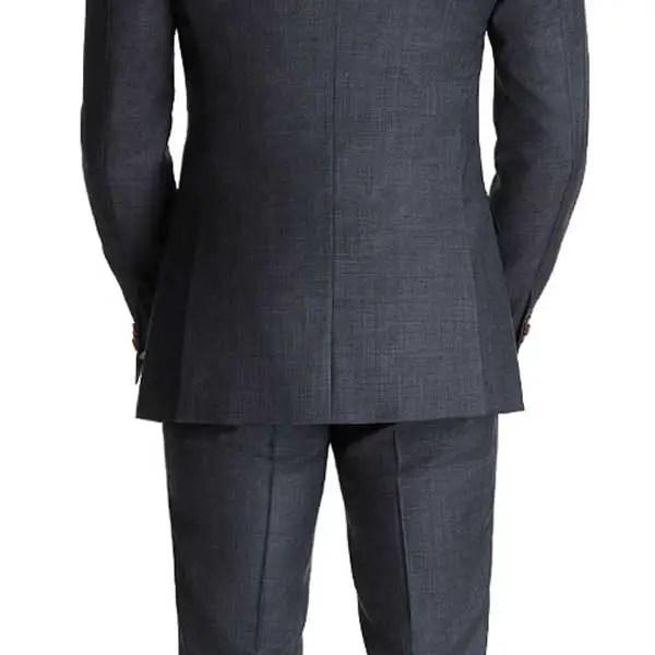 black suit with no vent