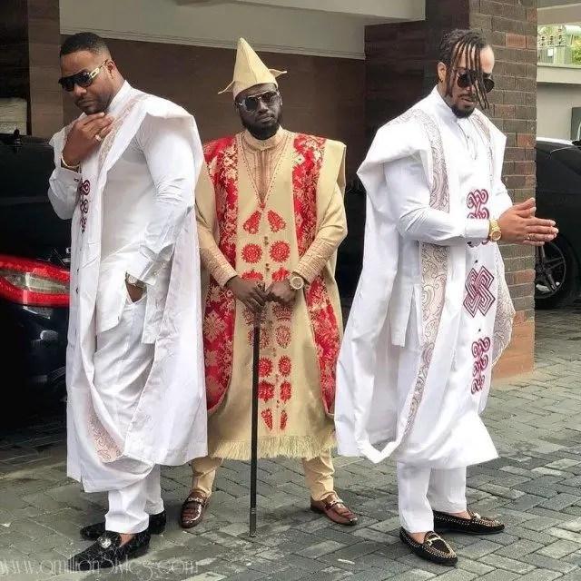 3 men rocking agbada