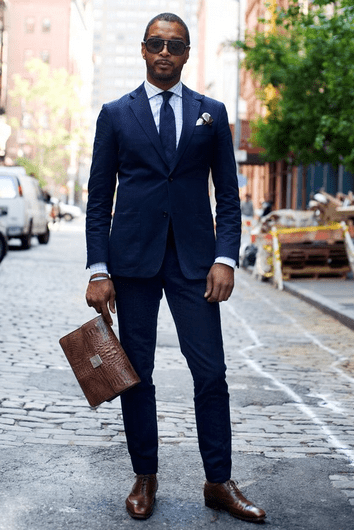 wearing brown shoes on suit - How to Combine Men's Shoes with Clothes