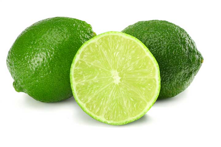 2 full limes and a sliced one