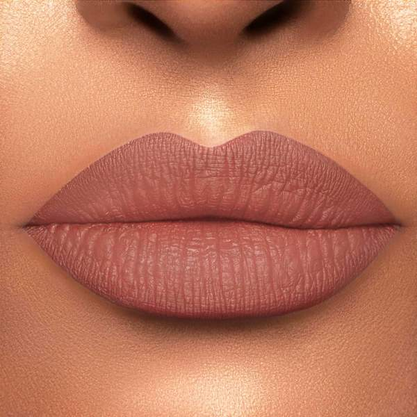 matte lipsticks on the lips