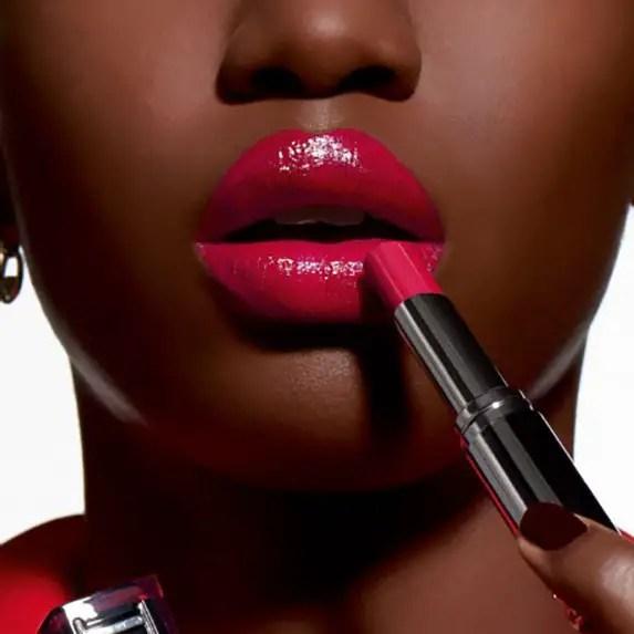 moisturizing lipsticks on the lips
