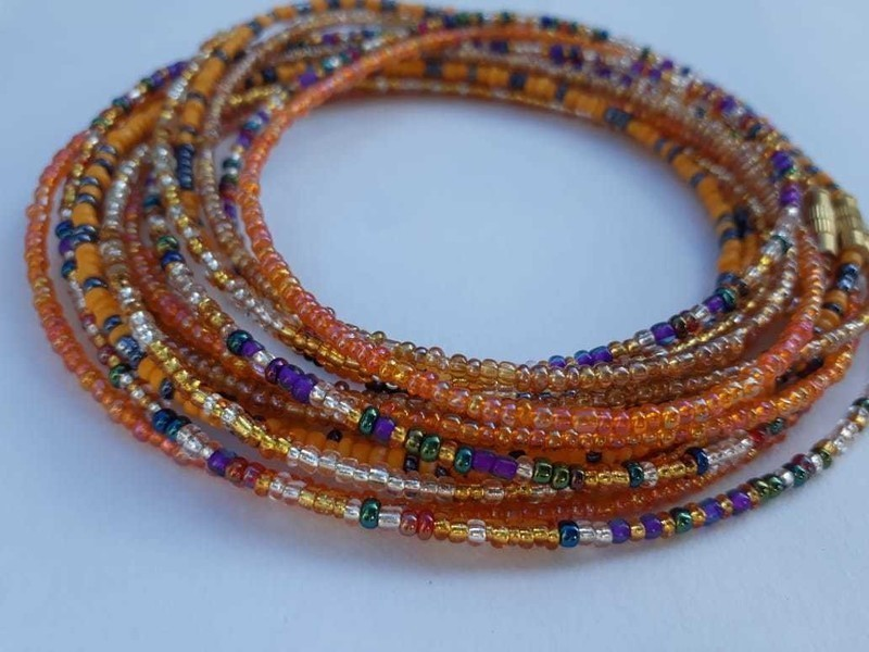 multi color african waist beads