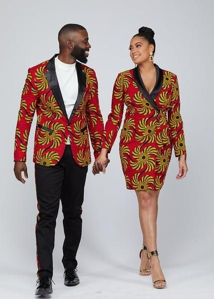couple in ankara suits