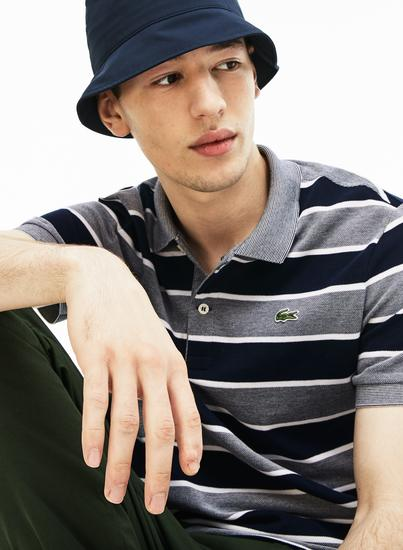 man in hat styled with polo