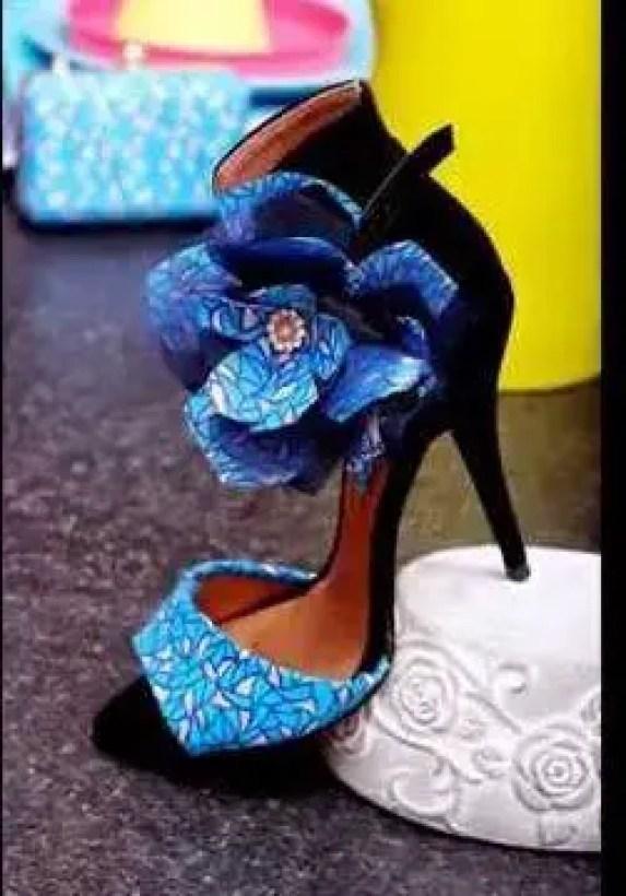 ankara heels shoe