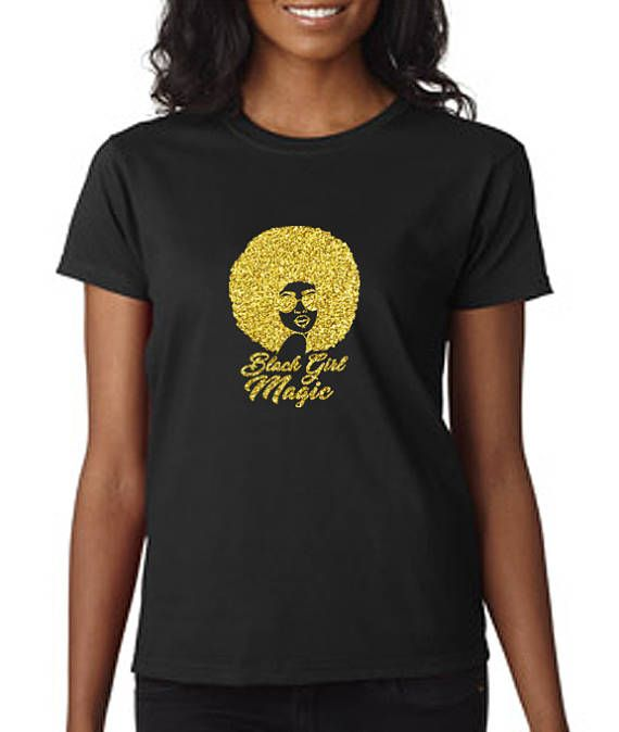 lady in a black logo tshirt